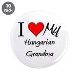 "I Heart My Hungarian Grandma 3.5"" Button (10 pack)"