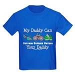 My Daddy Triathlon Kids Dark T-Shirt