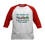 My Daddy Triathlon Kids Baseball Jersey