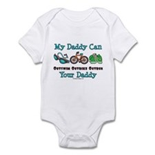 My Daddy Triathlon Baby Onesie