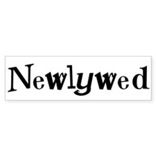 Black Cool Text Newlywed Bumper Bumper Sticker
