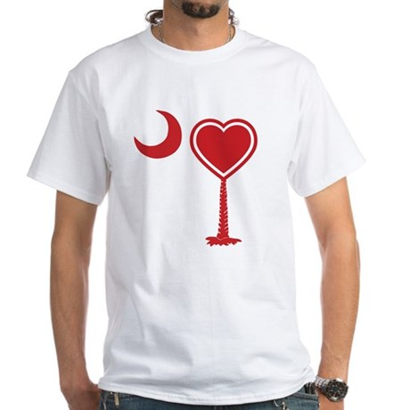 Heart Palmetto White T-Shirt