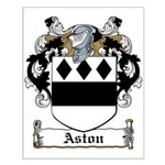 Aston Family Crest Small Poster