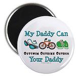 My Daddy Triathlon Magnet