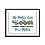 My Daddy Triathlon Framed Panel Print