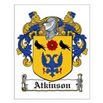 Atkinson Family Crest Small Poster