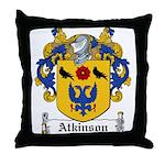 Atkinson Family Crest Throw Pillow