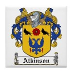 Atkinson Family Crest Tile Coaster