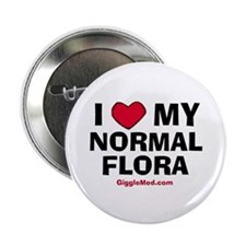 "Normal Flora Love 2.25"" Button (100 pack)"