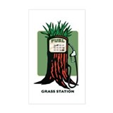 Grass Station Rectangle Decal