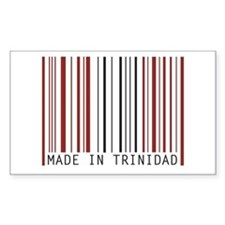 made in trinidad Rectangle Decal