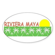 Riviera Maya, Mexico Oval Decal