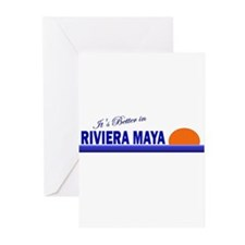 Its Better in Riviera Maya, M Greeting Cards (Pk o