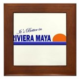 Its Better in Riviera Maya, M Framed Tile