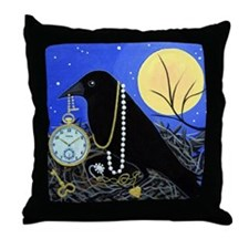 CROW Night Thief Throw Pillow