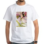 August Amaryllis White T-Shirt