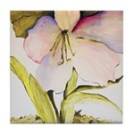August Amaryllis Tile Coaster