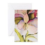 August Amaryllis Greeting Cards (Pk of 10)