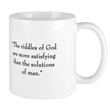 "G.K. Chesterton - ""Riddles of God"" Mug"