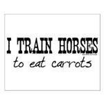 I Train Horses, To Eat Carrots Small Poster