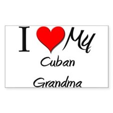 I Heart My Cuban Grandma Rectangle Decal