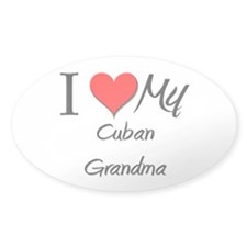I Heart My Cuban Grandma Oval Decal