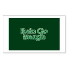 Erin Go Bragh v10 Rectangle Decal