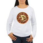 The Great Pizza Monogram Women's Long Sleeve T-Shi