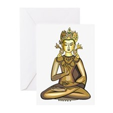 Golden Buddha Greeting Cards (Pk of 10)