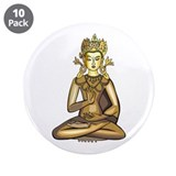 "Golden Buddha 3.5"" Button (10 pack)"