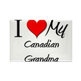 I Heart My Canadian Grandma Rectangle Magnet (10 p