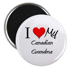 "I Heart My Canadian Grandma 2.25"" Magnet (10 pack)"