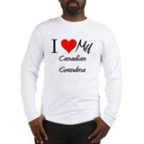 I Heart My Canadian Grandma Long Sleeve T-Shirt