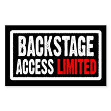 """""""Backstage Access Limited"""" Rectangle Decal"""