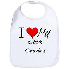 I Heart My British Grandma Bib