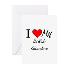 I Heart My British Grandma Greeting Card