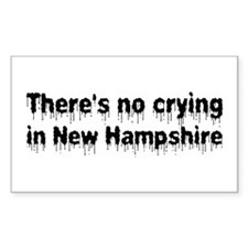 Anti-Hillary in New Hampshire Sticker (Rectangular