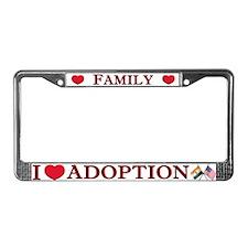 I Love Adoption (India/USA) License Plate Frame