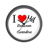 I Heart My Belizean Grandma Wall Clock