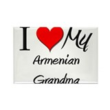 I Heart My Armenian Grandma Rectangle Magnet (10 p