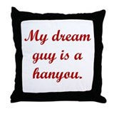Dream Guy Hanyou Red Throw Pillow