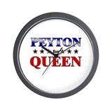 PEYTON for queen Wall Clock