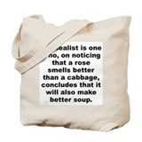 Funny H l mencken quote Tote Bag