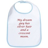 Dream Guy Silver&Crescent Red Bib