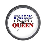PAIGE for queen Wall Clock