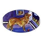 Nova Scotia Duck-Tolling Retriever Oval Sticker