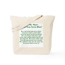 Lost Mate Green Tote Bag