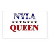 NYLA for queen Rectangle Decal