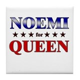 NOEMI for queen Tile Coaster