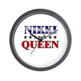 NIKKI for queen Wall Clock